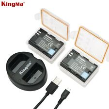 KINGMA LP-E6 Dual Battery With Battery Charge for Canon 5DRS, 5D Mark II,III,IV