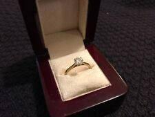 9k Yellow Gold, Solitaire Diamond Engagement Ring
