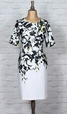 New Womens Dress Wedding Cocktail Vintage Style Pin up Floral Classy Midi UK 14