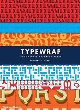 Type Wrap: Typographic Gift Wrapping Paper by Rick Landers, Steven Heller, NEW B