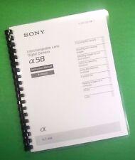 Laser Bedruckt Sony SLT A58-A58K Kamera Anleitung 96 Seiten Betriebsanleitung Anleitung