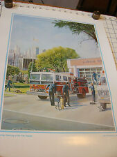 """Vintage poster/print: Spring cleaning at the Fire Station 1980, 16 x 21"""""""