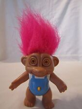 "1992 Soma 3"" Glo Troll Pink Hair Eyes Light Up"