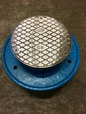 """Zurn Co1-Nh4-Ss, 4""""Nh Cleanout, 5"""" Round Stainless Steel top, Light Commercial"""