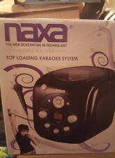 Naxa Top Loading Karaoke System Model NK-200 - Boombox Portable CD Player NEW
