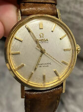 VINTAGE OMEGA SEAMASTER DEVILLE 14K GOLD  AUTOMATIC  Men's WATCH 1960S