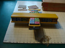 vintage Wooden PULL TOY: MIB Unused HALSAM AIRPLANE wear to box GREAT TOY