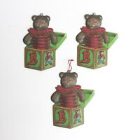 Department 56 Christmas Tree Tin Ornaments Teddy Bears Jack In The Box Dept