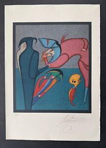 """Mihail Chemiakin, """"Whispers"""" from Carnival of St. Petersburg, Lithograph"""