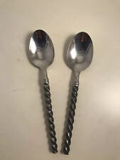 """Pier 1 Imports PII8 Oval Soup Spoon 8/"""" Coil Stainless Flatware Silverware India"""