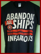ABANDON ALL SHIPS ( INFAMOUS ) - GRAPHIC T-SHIRT (S)  BNWOT