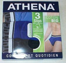 lot de 3 slips Athena neufs taille 4/L en coton bio