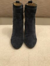 Balenciaga suede wedge ankle boots - 38.5, blue