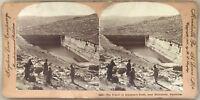 Barro Santa Belén Estanque Salomon Palestina Foto Estéreo Vintage Citrato