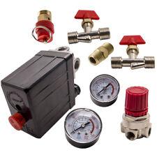 New Air Compressor Pressure Switch Control Manifold Regulator Gauges Fittings