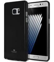 For Galaxy Note 7 Genuine MERCURY Goospery Metallic Black Soft Jelly Case Cover