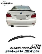 Carbon Fiber Rear Trunk Spoiler For 2004-2010 BMW 5 Series E60 Sedan Type A