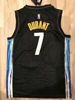 NWT Kevin Durant #7 Brooklyn Nets City Edition Men's Black Sewn Jersey