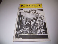 1980 PLYMOUTH THEATRE PLAYBILL - AIN'T MISBEHAVIN' - BOWERS LENOX PRYMUS