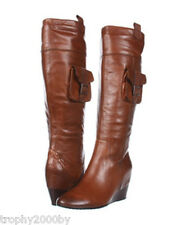 NEW SOFFT $234 BROWN BROOKLYN KNEE HIGH LEATHER BOOTS SZ 11