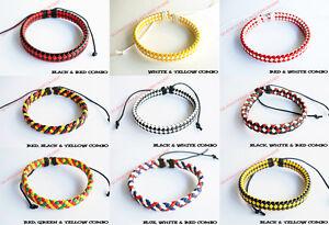 Unisex Braided Leather Wrap Handmade Fashion Wide Bracelet Wristband Cuff USA