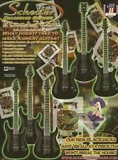 The Schecter C-1 PT S-1 BlackJack Diamond Series guitar ad 8 x 11 advertisement