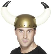 Adult Smiffys Viking Helmet with Large Horns Fancy Dress Hat New by Smiffys
