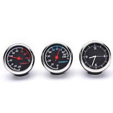1 Set/3 PCS Car Thermometer Hygrometer Quartz Clock For Dashboard Ornaments fo