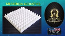"""Pyramid Acoustic Foam Studios Sound Absorption Wall Panels 48 Pack -1""""X 12""""X 12"""""""