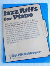 Mitch Kerper Jazz Riffs for Piano Style Powell Others