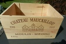 Traditional Empty French Wooden Wine Box 6 bottle size. Storage, Hamper
