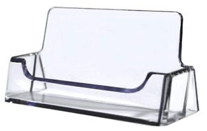 12 Clear Plastic Acrylic Desktop Business Card Holder Display Ship AZM