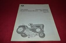 John Deere 39 47 Rotary Mower For 110 Garden Tractor Operator's Manual YABE8