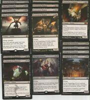 60 Card Deck - DEMONS Tribal - Black - Rares - Ready to Play - Magic MTG Custom