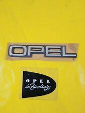 NEU + ORIG GM Opel Kadett E Schriftzug Chrom grau Emblem Logo Heckklappe