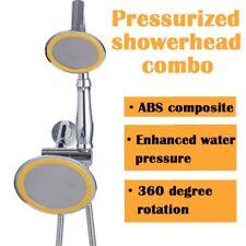 Shower Head High Pressure Hand-Held Chrome Detachable Dual Rainfall w/Hose Set