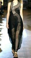 New $5,295 Stella McCartney Runway Embroidered Black Maxi Long Dress 4 6 / IT 42