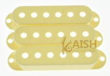 50mm Aged White 3 Single Coil Strat Guitar Pickup Covers fits Stratocaster