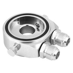 Car Accessories M20x1.5 Oil Filter Cooler Gauge Sandwich Plate Adapter Silver