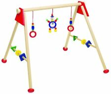 Heimess RED BABY GYM & PLAY TRAINER Wooden Activity Baby/Child Play Centre BN