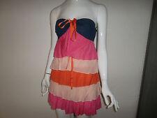 Fornarina Kleid Abend-Party-Bandeaukleid Nadia-Rosewater cotton silk Dress Gr. M