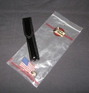 Don Hume leather flashlight/baton holster in original plastic display bag