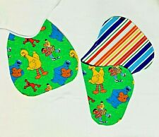 Handmade Baby Bib & Burp Pad New Sesame Street Big Bird by Sweet Baby Designs