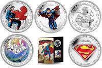 75th Anniversary of Superman Commemorative 6-Coin Collection - Silver