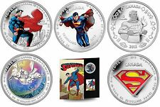 75th Anniversary of Superman Commemorative 6-Coin Collection - Silver