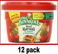 Chef Boyardee Beef Ravioli 12 pack 7.5oz Microwavable Bowl