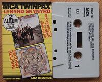 LYNYRD SKYNYRD - 2x ALBUMS ON 1 CASSETTE MCA TWINPAX (MCA2107) SOUTHERN ROCK