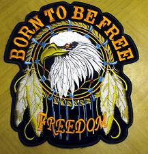Born to be Free Adler Eagle Aufnäher Patch  XL XXL Rückenaufnäher Biker