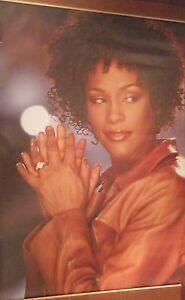 """40x60"""" SUBWAY POSTER~Whitney Houston 1998 Solo Closeup W/Wedding Ring Pinup NOS~"""