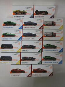 16 Hot Wheels ID Cars Factory Case Pack Lot Volkswagen Lamborghini Tankful FXB02